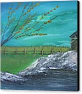 Cabin Canvas Print by Shadrach Ensor
