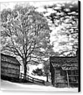 Cabin Under Buttermilk Skies Vignette Canvas Print