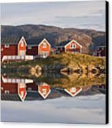 Cabins At Sommaroy, Tromso, Norway Canvas Print by David Clapp