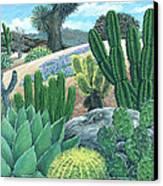 Cactus Garden Canvas Print by Snake Jagger