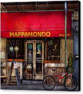 Cafe - Ny - Chelsea - Mappamondo  Canvas Print by Mike Savad