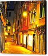 Cafe In Venice Canvas Print