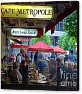 Cafe Metropole Canvas Print by Andrea Simon