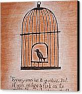 Caged Genius Canvas Print by Canis Canon