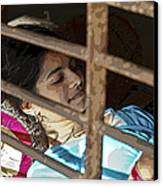 Caged Indian Beauty Canvas Print