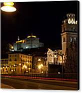 Calahorra Cathedral At Night Canvas Print by RicardMN Photography