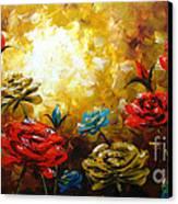 Camellias Canvas Print by Uma Devi