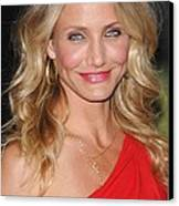 Cameron Diaz At Arrivals For The Green Canvas Print
