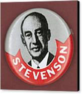 Campaign Button Canvas Print