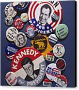 Campaign Buttons Canvas Print
