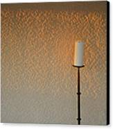 Candle With Fading Light Canvas Print