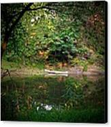 Canoe On Cacapon Canvas Print by Michael L Kimble