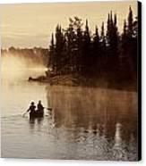 Canoeing On Winnipeg River, Pinawa Canvas Print