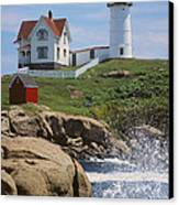 Cape Neddick Nubble Lighthouse Maine Canvas Print by Jeff Clinedinst