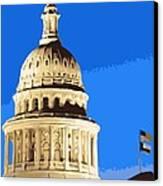 Capitol Dome Color 10 Canvas Print by Scott Kelley
