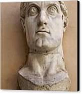 Capitoline Museums Palazzo Dei Conservatori- Head Of Emperor Con Canvas Print by Bernard Jaubert
