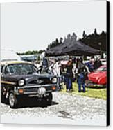 Car Show Gasser Canvas Print by Steve McKinzie