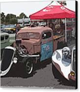 Car Show Hot Rods Canvas Print by Steve McKinzie