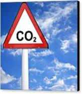 Carbon Dioxide And Global Warming Canvas Print by Victor De Schwanberg