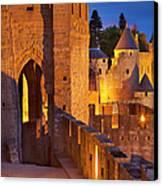 Carcassonne Ramparts Canvas Print by Brian Jannsen
