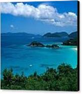 Caribbean Blue Canvas Print by Kathy Yates