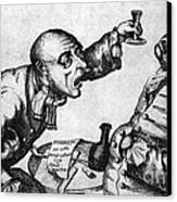 Caricature Of Two Alcoholics, 1773 Canvas Print