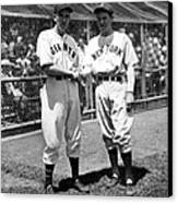 Carl Hubbell & Vernon Lefty Gomez Canvas Print by Everett