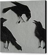 Carl's Crows Canvas Print by Betty Pieper