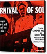 Carnival Of Souls, British Quad Poster Canvas Print by Everett