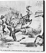 Cartoon: Election Of 1856 Canvas Print by Granger