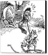 Cartoon: New Deal, 1937 Canvas Print by Granger