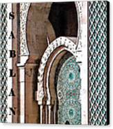 Casablanca Mosque Canvas Print by Linda  Parker