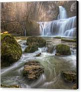 Cascade Of Billaud Canvas Print