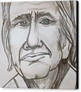 Cash Caricature Canvas Print by Pete Maier