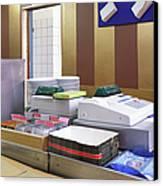 Cashier Desk Canvas Print