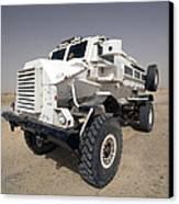 Casper Armored Vehicle Sits Canvas Print