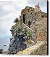 Castello Della Dragonara In Camogli Canvas Print by Joana Kruse