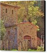 Castillo De Amoroso Farmhouse Napa Valley Canvas Print by George Sylvia