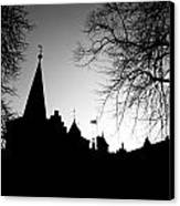 Castle Silhouette Canvas Print by Semmick Photo