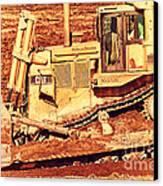 Cat Bulldozer . 7d10945 Canvas Print
