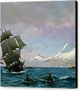 Catching Whales Canvas Print