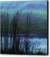 Cattails In Mist Canvas Print by Judi Bagwell