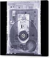 Cd Drive, Simulated X-ray Canvas Print by Mark Sykes