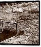 Cedar Pete Gravesite In Grafton Utah Canvas Print