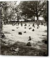 Cemetery At Mud Meeting House Canvas Print by Mark Jordan
