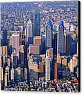 Center City Aerial Photograph Skyline Philadelphia Pennsylvania 19103 Canvas Print