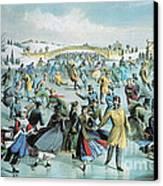 Central Park Skating Pond New York Canvas Print
