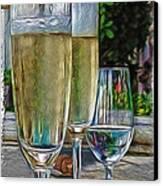 Champagne At The Beach Canvas Print