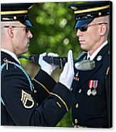 Changing Of Guard At Arlington National Canvas Print