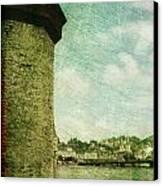Chapel Bridge Tower In Lucerne Switzerland Canvas Print